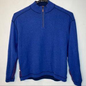 Tommy Bahama Men's Reversible Sweater Blue Size XL